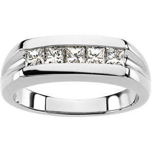 Platinum Gent's Diamond Ring