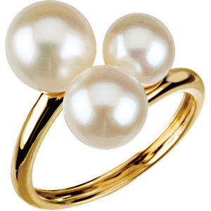 14Kt Yellow Gold Freshwater Cultured Pearl Ring