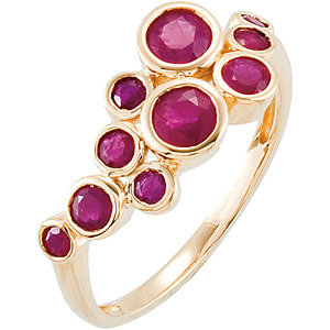 14Kt Yellow Gold Genuine Madagascar Ruby Ring