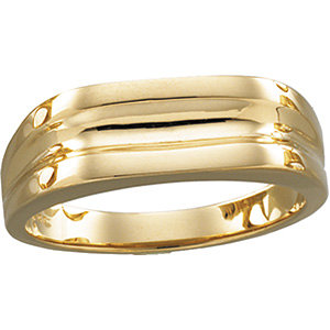 14Kt Yellow Gold Gents Ring