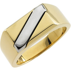 14Kt Yellow & White Gold Men's Ring