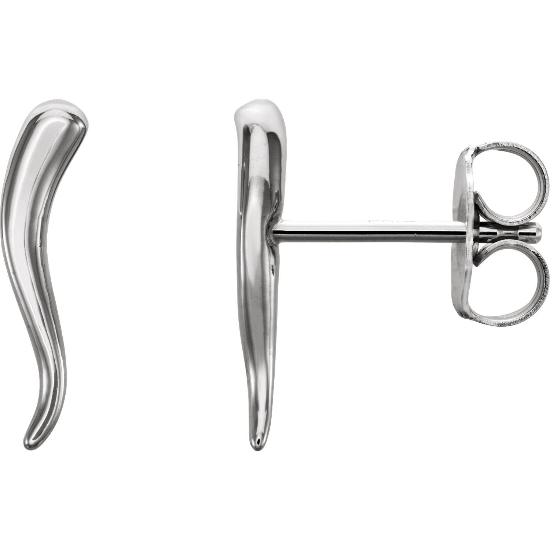 14Kt Gold Italian Horn Earrings