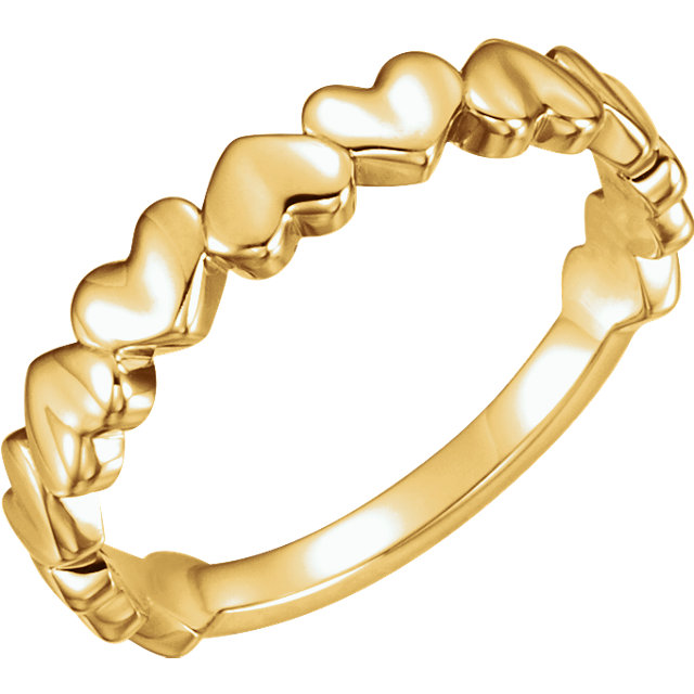 14kt Yellow Gold Heart Ring
