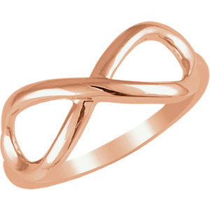 14Kt Gold Infinity Design Ring
