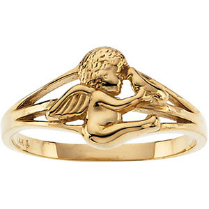 14Kt Yellow Gold Angel Ring