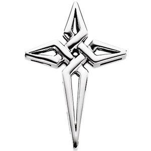 14kt White Gold Cross Pendant