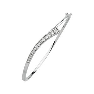 14Kt White Gold Journey Diamond Bracelet
