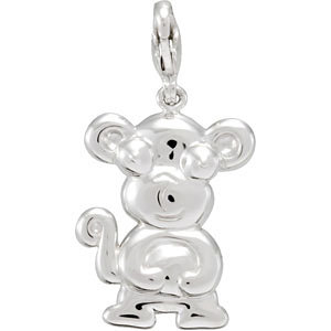 Sterling Silver Charming Animals™ Monkey Charm