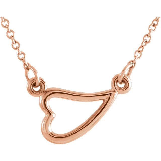 14kt Rose Gold Heart Necklace