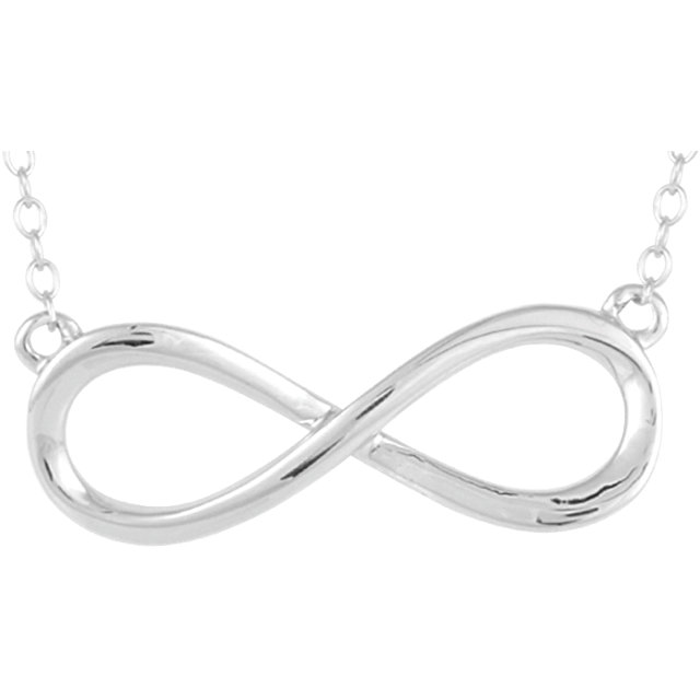 14kt White Gold Infinity Necklace