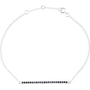 14Kt White Gold Blue Sapphire Bracelet