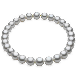 White Semi Round South Sea Cultured Pearl Strand