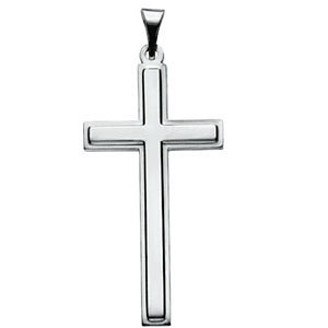 14kt White Gold Cross Pendant