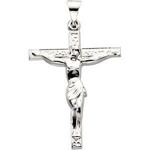 14kt White Gold Crucifix Pendant
