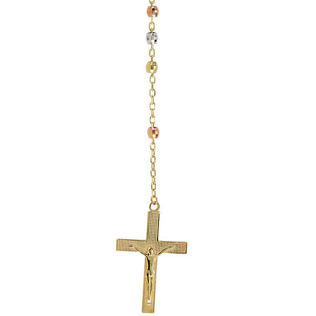 Tri-Color Rosary Necklace