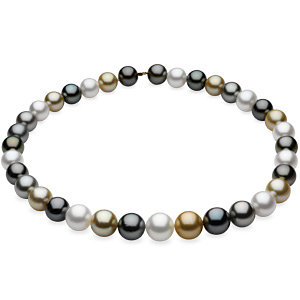 Graduated Multicolor Cultured Pearl Strand